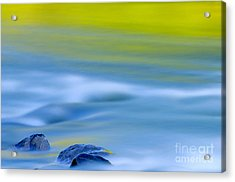 Stones In River Acrylic Print by Silke Magino