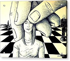Stones In The Chessboard Of Life Acrylic Print by Paulo Zerbato