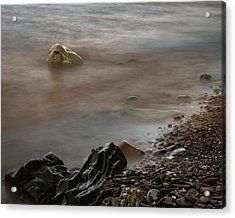 Stones On The Shore Of Lake Superior Acrylic Print