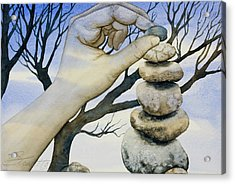 Acrylic Print featuring the painting Stones by Sheri Howe