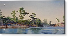 Stoney Lake Morning Acrylic Print by Debbie Homewood