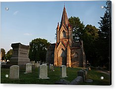 Acrylic Print featuring the photograph Stonington Ct Cemetery  by Kirkodd Photography Of New England
