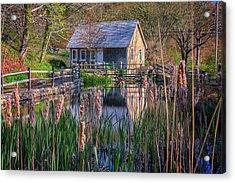 Stony Brook Grist Mill Acrylic Print by Rick Berk