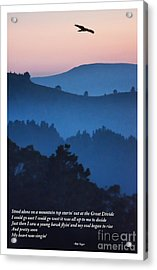 Stood Alone On The Mountain Top Acrylic Print