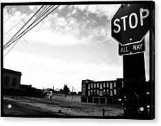 Acrylic Print featuring the photograph Stop All Way by Christopher Woods