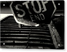 Stop End Acrylic Print
