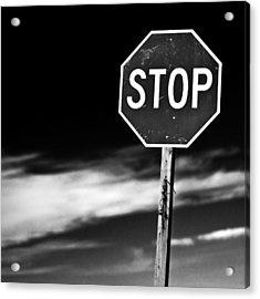 Stop Acrylic Print by James Bull