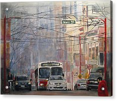 Stop Light Acrylic Print by Victoria Heryet