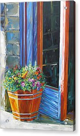 Stopping At An Entryway Acrylic Print by Karen Doyle