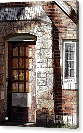 Storage Door Acrylic Print by Steve Augustin