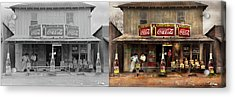 Acrylic Print featuring the photograph Store - Grocery - Mexicanita Cafe 1939 - Side By Side by Mike Savad