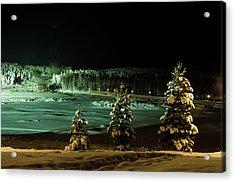 Storforsen In Night Acrylic Print by Tamara Sushko