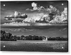 Storm A Coming-bw Acrylic Print by Marvin Spates