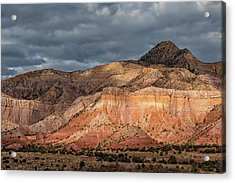 Storm Above Ghost Ranch Mountains Acrylic Print