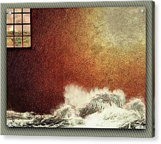 Storm Against The Walls Acrylic Print