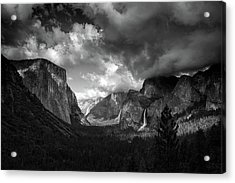 Storm Arrives In The Yosemite Valley Acrylic Print