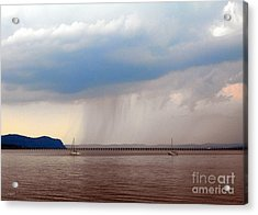 Storm At Hook Mountain Piermont Ny Acrylic Print by DazzleMe Photography