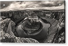 Storm At Horseshoe Bend Acrylic Print
