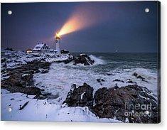 Storm At Night Acrylic Print by Benjamin Williamson