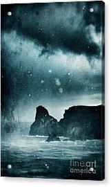 Storm At Sea In Cornwall, England Acrylic Print by A Cappellari