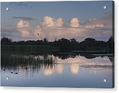 Storm At Sunrise Over The Wetlands Acrylic Print