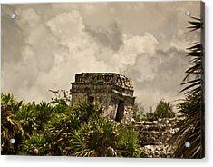 Storm At Talum Ruins Mexico Acrylic Print