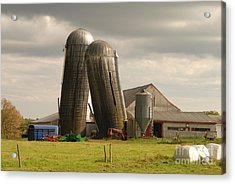 Acrylic Print featuring the photograph Storm At The Farm by Alana Ranney