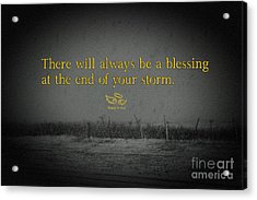 Storm Blessings Acrylic Print