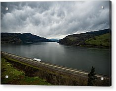 Storm Brewing On The Columbia Acrylic Print