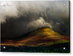 Storm Brewing Over Hawkshead Acrylic Print