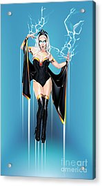 Acrylic Print featuring the digital art Storm by Brian Gibbs