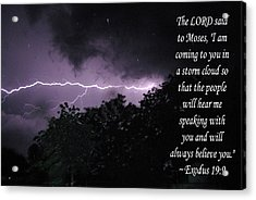 Storm Cloud Acrylic Print by Robyn Stacey