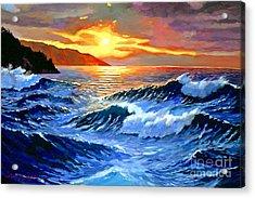 Storm Clouds - Catalina Island Acrylic Print by David Lloyd Glover