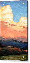 Storm Clouds And Sunsets Acrylic Print by Erik Schutzman