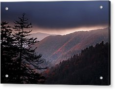 Storm Clouds At Sunrise Acrylic Print by Andrew Soundarajan