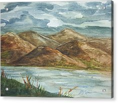 Acrylic Print featuring the painting Storm Clouds by Ellen Levinson