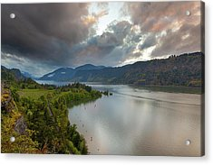 Storm Clouds Over Hood River Acrylic Print by David Gn