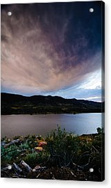 Storm Clouds Over Horsetooth, Colorado Acrylic Print by Preston Broadfoot