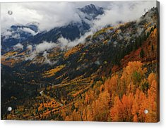 Acrylic Print featuring the photograph Storm Clouds Over Mcclure Pass During Autumn by Jetson Nguyen