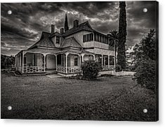 Storm Clouds Over Old House Acrylic Print