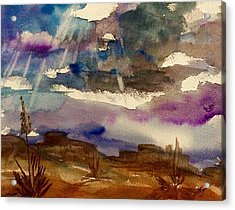 Storm Clouds Over The Desert Acrylic Print