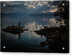 Storm Clouds Over The Island Acrylic Print