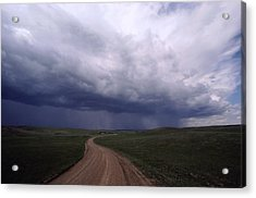 Storm Clouds Over The North Dakota Acrylic Print by Annie Griffiths