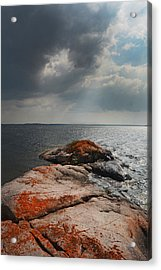 Storm Clouds Over Wall Island Acrylic Print