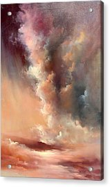 Storm Clouds Rising Acrylic Print by Sally Seago