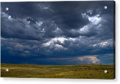 Acrylic Print featuring the photograph Storm Clouds To The East by Monte Stevens