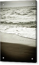 Acrylic Print featuring the photograph Storm Coast Black And White by Frank Tschakert