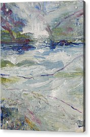 Acrylic Print featuring the painting Storm Currents by John Fish