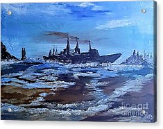 Storm Freighter Acrylic Print