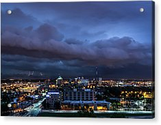 Acrylic Print featuring the photograph Storm Front by Andrea Silies